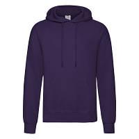 Мужская тёплая кофта з капюшоном толстовка кенгуру Фиолетовый 62-208-Pe S