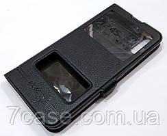 Чехол книжка с окошками momax для Samsung Galaxy M10 M105F черный