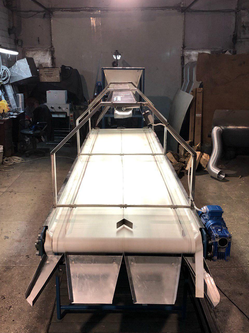Транспортерная лента для сортировки грецкого ореха