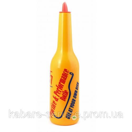 Бутылка для флейринга, , желтая с надписью, ударопрочный пластик, Co-Rect