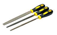 Напильники по металлу 3 шт, 200 мм, плоский/круглый/трёхгранный MasterTool 06-0210