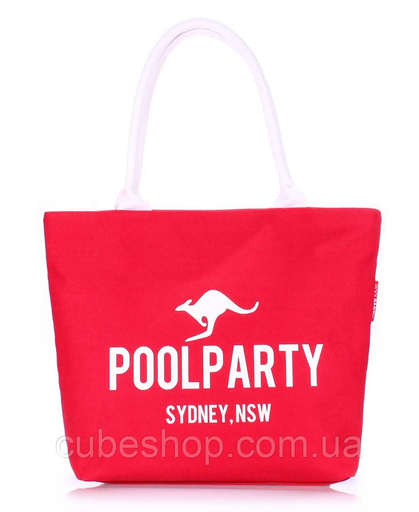 Котоновая сумка Poolparty (красная)