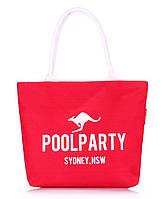Котоновая сумка Poolparty (красная), фото 1