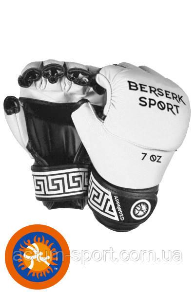 Перчатки виниловые для смешанных единоборств BERSERK FULL for Pankration approved UWW 7 oz white