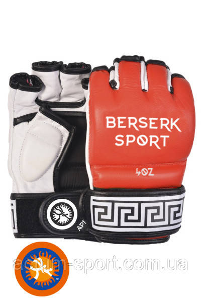 Перчатки виниловые для смешанных единоборств BERSERK TRADITIONAL for Pankration approved UWW 4 oz red