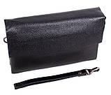 Клатч мужской кожаный Dovhani BLACK004-36 Черный, фото 4