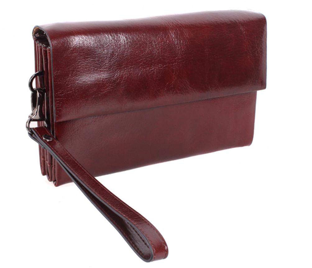Клатч мужской кожаный Dovhani COFFEE004-447 Бордовый