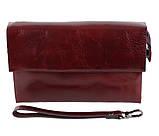 Клатч мужской кожаный Dovhani COFFEE004-447 Бордовый, фото 3