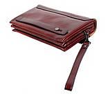 Клатч мужской кожаный Dovhani COFFEE004-447 Бордовый, фото 5