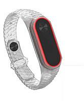 Силиконовый ремешок для фитнес-браслета Xiaomi Mi Band 2 - Edge Clear Red