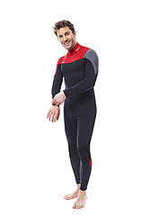 Гидрокостюм мужской длинный из неопрена JOBE Perth 3/2mm Red Wetsuit
