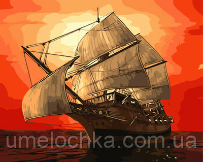 Картина по номерам Алый закат 40 х 50 см (BRM3370)