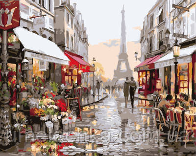 Картина по номерам Париж после дождя 40 х 50 см (BRM4547)