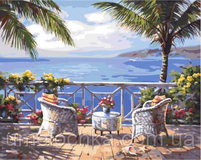Картина по номерам Терасса с видом на море 40 х 50 см (BRM4824)