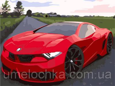 Картина по номерам Красное авто 40 х 50 см (BRM7295)