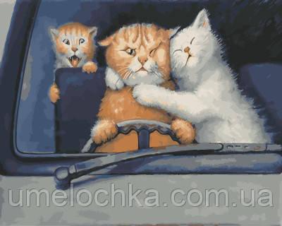 Картина по номерам За рулем 40 х 50 см (BRM21093)