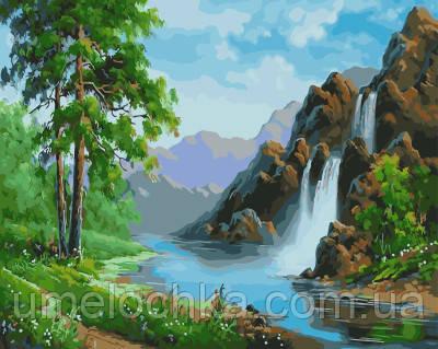 Картина по номерам Лесной водопад 40 х 50 см (BRM21105)