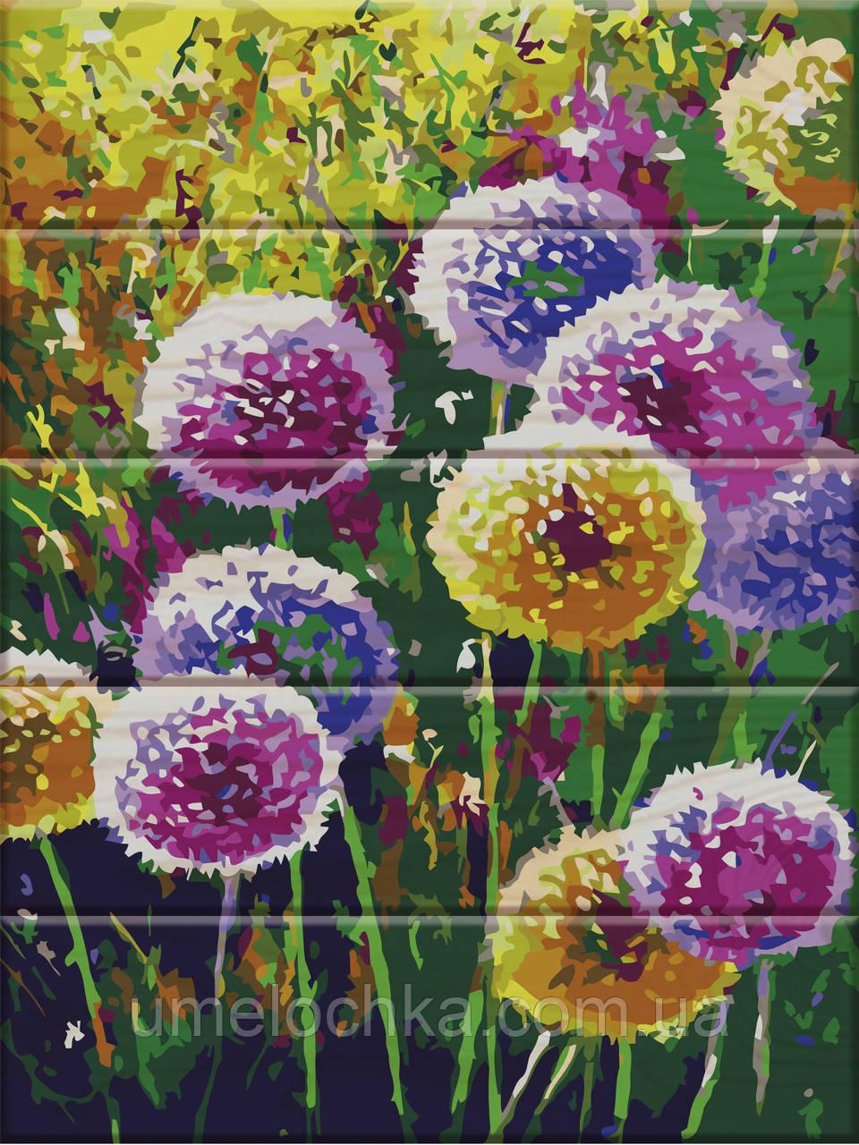 Картина по номерам Радужные одуванчики 30 х 40 см (ASW007)