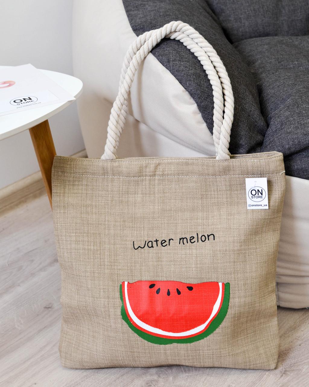 3da4797b4d30 Женская летняя пляжная сумка Watermelon коричневого цвета: продажа ...