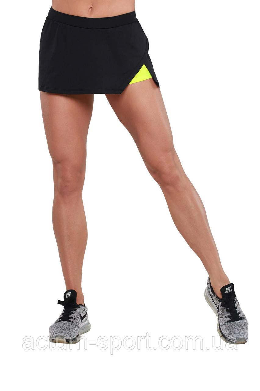 Шорты юбка для тренировок BERSERK AMAZON black/yellow