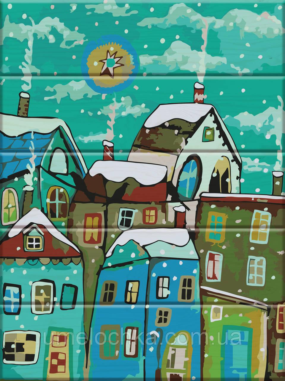 Картина по номерам Сказочный город 30 х 40 см (ASW025)