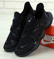 Беговые кроссовки Nike Free Run 2019 черные . Живое фото (Реплика ААА+)