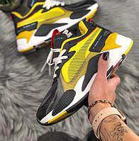 Жіночі кросівки Puma RS TRANSFORMERS BUMBLEBEE жовті. Живе фото (Репліка ААА+)