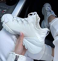Женские летние кроссовки Dior белые. Живое фото. Топ реплика ААА+