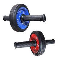 Ролик гимнастический для пресса металлический одно колесо ( колесо для пресса), фото 1