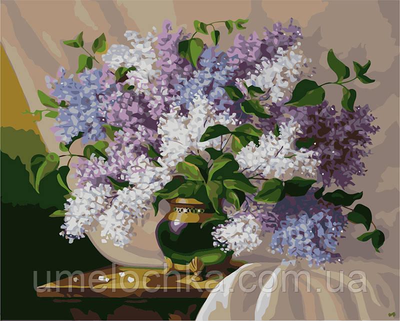 Картина по номерам Букет сирени на столе 40 х 50 см (BRM7097)