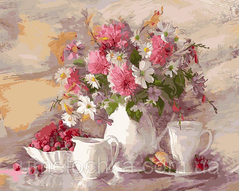 Картина по номерам Цветочный натюрморт 40 х 50 см (BRM5752)