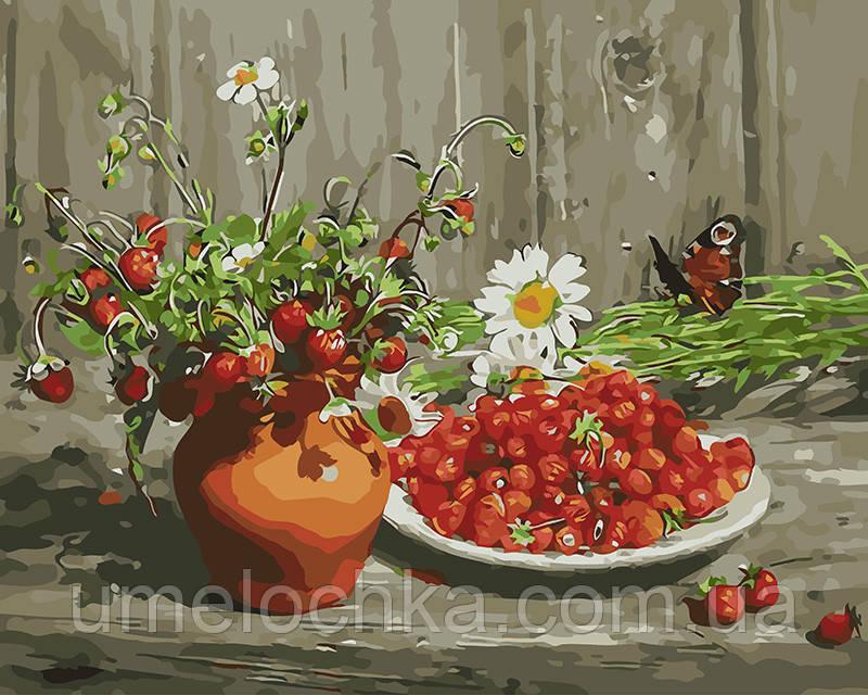 Картина по номерам Ягодный натюрморт 40 х 50 см (BRM9427)