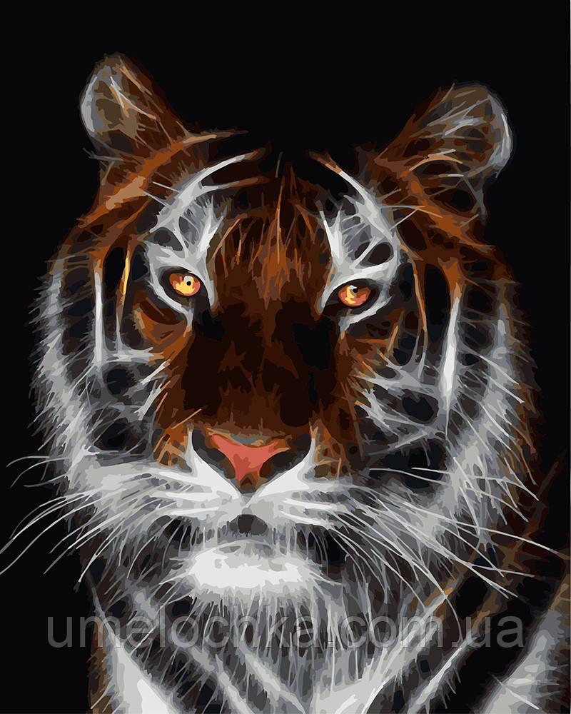 Картина по номерам Тигр во тьме 40 х 50 см (BRM4788)