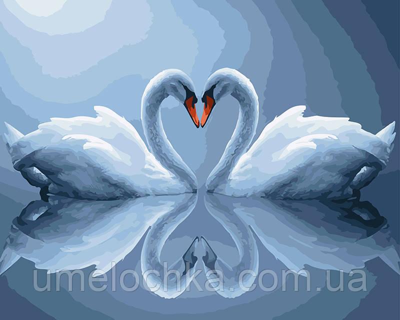 Картина по номерам Лебеди в лунном свете 40 х 50 см (BRM5311)