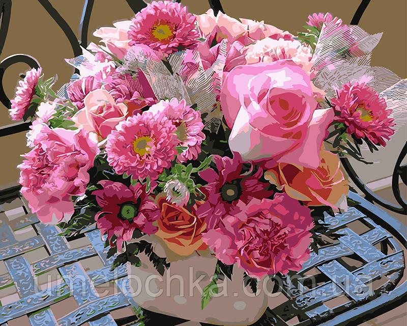 Картина по номерам Розовое асорти 40 х 50 см (BRM4095)