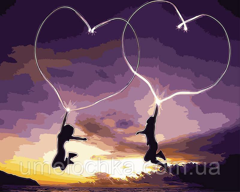 Картина по номерам Пылающие сердца 40 х 50 см (BRM9304)