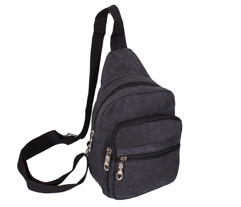ad7c2cb19e2c Сумка мини-рюкзак мужская Nobol 011BLACK Черная - Интернет-магазин
