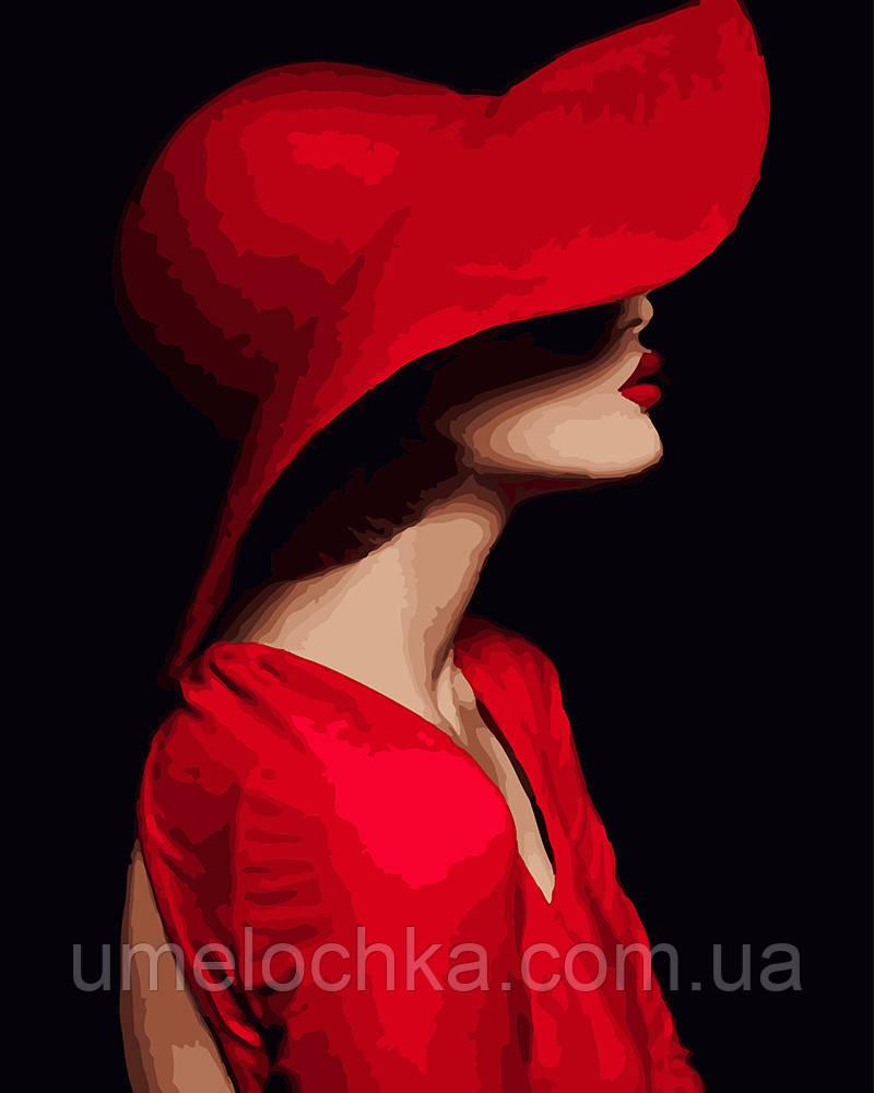 Картина по номерам Незнакомка в красном 40 х 50 см (BRM23572)