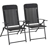 Садовые стулья  Miami Folding High Back Recliner Chairs - Pack of 2., фото 1