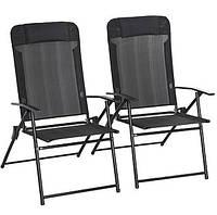 Садовые стулья  Miami Folding High Back Recliner Chairs - Pack of 2.