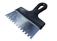 Шпатель зубчатый 200*6*6 мм MasterTool 19-6620