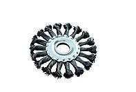 Щетка дисковая из плетеной проволоки D115 отв 22,2 мм MasterTool 19-9011