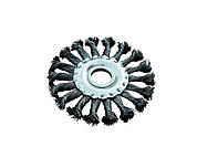 Щетка дисковая из плетеной проволоки D180 отв 22,2 мм MasterTool 19-9018