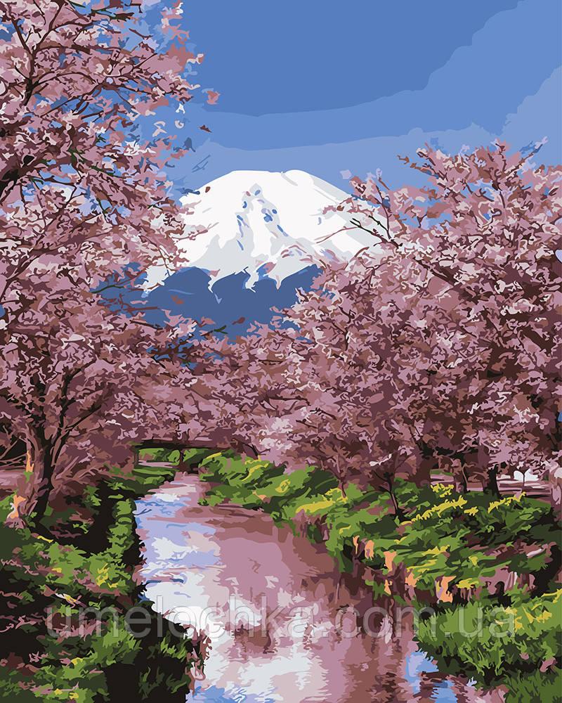 Картина по номерам Распустившаяся сакура 40 х 50 см (BRM25576)