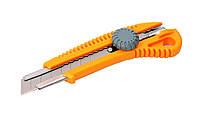 Нож лезвие 18 мм винт.замок MasterTool 17-0328