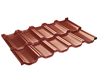 Модульная черепица Venecja / Венеция X-mat коричневый ( SSAB - Щвеция)   X-Matt Терракота