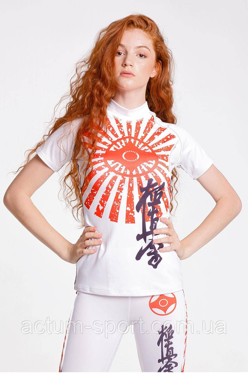Компрессионная футболка KYOKUSHIN white