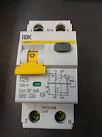 Автоматический выключатель дифференциального тока IEK C25À/30ma