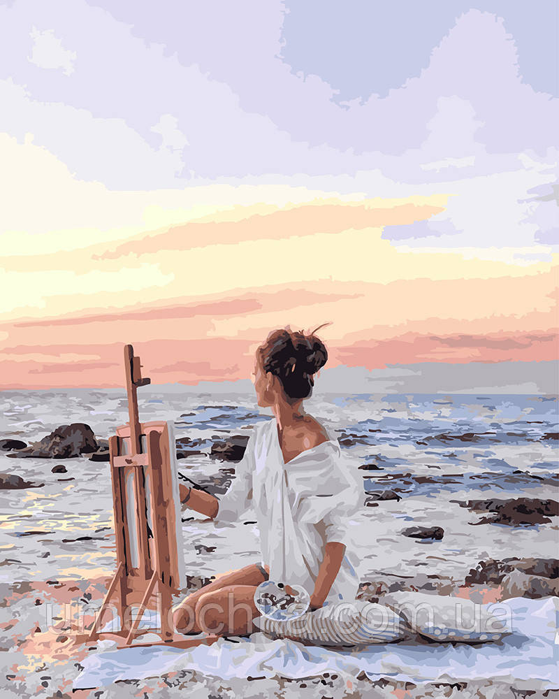 Картина по номерам Рассвет на побережье 40 х 50 см (BRM25437)