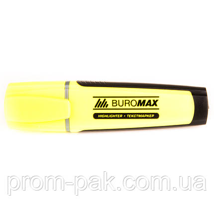 Флуоресцентный текст - маркер  Вuromax желтый, фото 2